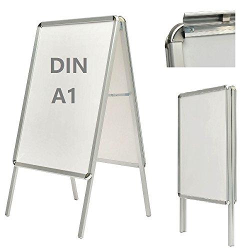 A1 Plakatständer Kundenstopper Werbetafel Gehwegaufsteller 2 Folien doppelseitig 118 x 64 x 65cm 03-1001