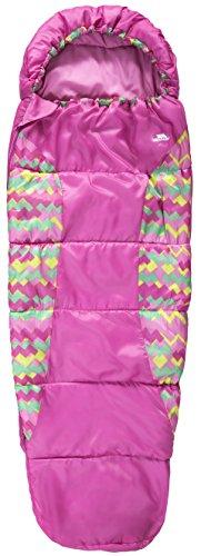 Trespass Kinder Wasserabweisender Schlafsack Bunka mit Hohlfaserfüllung, Treadpink, One Size, UCACSLI30001_TPIEACH