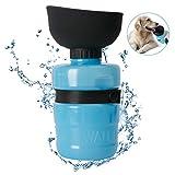Cassiecy Hundetrinkflasche für unterwegs, Leckdichte Outdoor Faltbarer Wasserflasche für Hunde (520ml) (520ml, Blau)