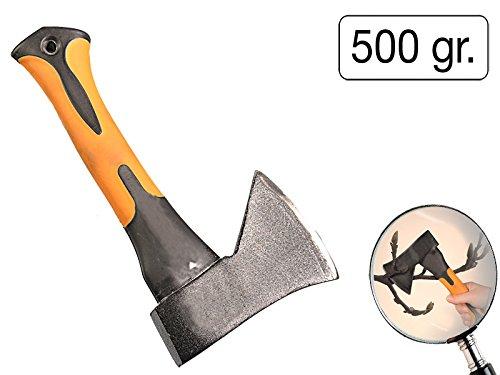 MS-Warenvertrieb Beil Mini 500g Fiberglas Handbeil Forstbeil Minibeil Spaltbeil Küche Brennholz