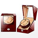 KY Uhrenbeweger Doppelter Uhrenbeweger mit automatischer Uhr-Aufbewahrungsbox (Farbe : A)
