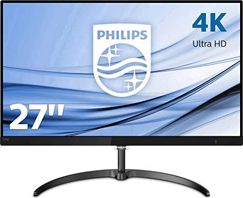 Philips 276E8VJSB/00 68 cm (27 Zoll) Monitor (HDMI, DisplayPort, 5ms Reaktionszeit, 3840 x 2160, 60 Hz, nicht Curved, 4K, Adaptive Sync) schwarz