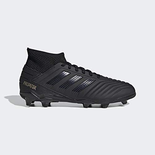 adidas Unisex-Kinder Predator 19.3 FG J Fußballschuhe, Mehrfarbig Core Black/Gold Met. 000, 38 EU
