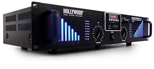 etc-shop 3000 Watt DJ Verstärker Bluetooth USB SD AUX PA-Endstufe Bluestream Hollywood 2.0 3000 schwarz