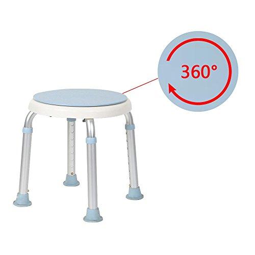 360°Drehbarer Duschhocker Duschstuhl Badehocker Höhenverstellbar Badhocker Duschhilfe Duschsitz Badsitz mit Saugnäpfen und höhenverstellbar, Schwangere Frauen und ältere Menschen (360°Drehbarer)