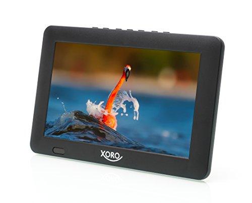 Xoro PTL 900 22,9cm (9 Zoll) Tragbarer DVB-T/T2 Fernseher (H265 HEVC, Mediaplayer, USB 2.0, MicroSD, Teleskopantenne, Fernbedienung, KFZ)