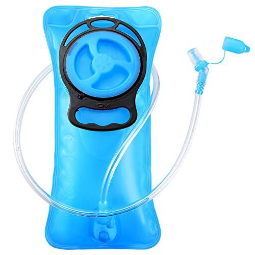 GIM 2 Liter Trinkblase Wasserblase Sport Trinkbeutel Trinksystem für Outdoor-Aktivitäten wie Wandern oder Fahrradfahren BPA-frei PEVA-Sicher Auslaufsicher