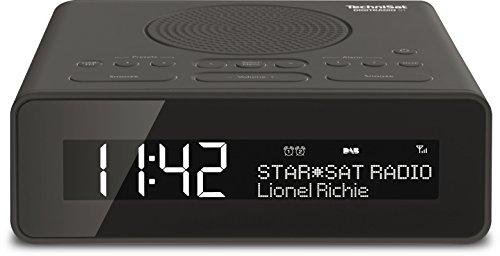 TechniSat DIGITRADIO 51 / Digital-Radio, Uhrenradio, Radiowecker mit zwei einstellbaren Weckzeiten, Snooze-Funktion, Sleeptimer, dimmbares Display, Kopfhöreranschluss, schwarz