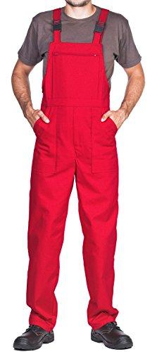 Arbeitslatzhose Herren, Arbeitshose - made in EU - latzhose arbeits latzhose (XL, Rot)