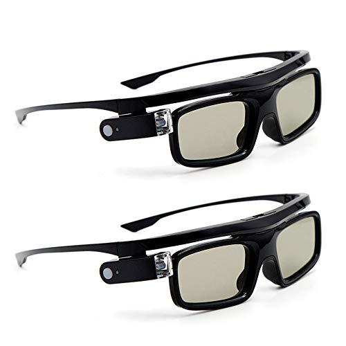 Docooler [2 Stücke GL1800 Projektor 3D-Brille Active Shutter Wiederaufladbare DLP-Link für alle 3D-DLP-Projektoren Optama Acer BenQ ViewSonic Sharp Dell …