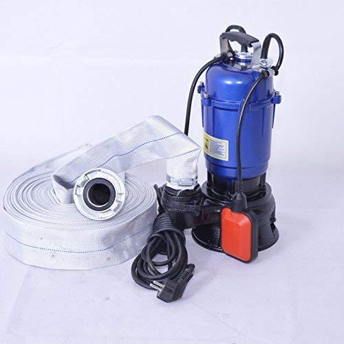 DAMBAT !! Profi !! Fäkalienpumpe Tauchpumpe Schmutzwasserpumpe 550 Watt Typ MAGNUM2900 + 20m 2' C-Schlauch mit Einem freiem Durchlauf für Reststoffe bis 30 mm. Fördermenge 18000l/h = 300 l/min.