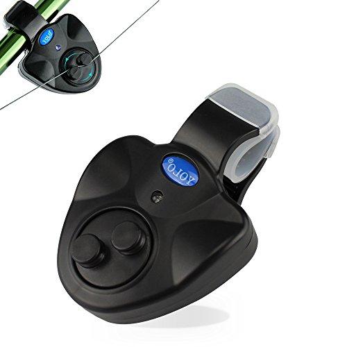 Coolnice Empfindsame Angel Bissanzeiger Elektronisch mit LED-Leuchtanzeiger Swinger Vibration auf der Rute Angelsummer Ausrüstung von Fischer Fischerei Gerät