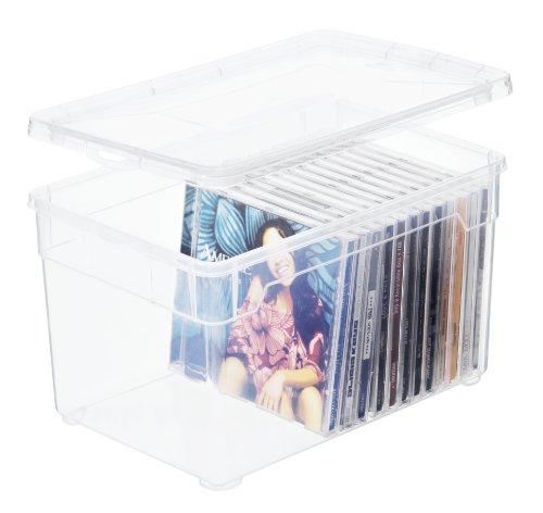 Aufbewahrungsbox 'Clear Box Multimedia' 5 L. von Sundis mit Deckel - QR-Code AppMyBox - 5 L. Volumen - (LxBxH) 26x17.5x15 cm - transparent - stapelbar - Kunststoff/Plastik (PP) - Div. Größen