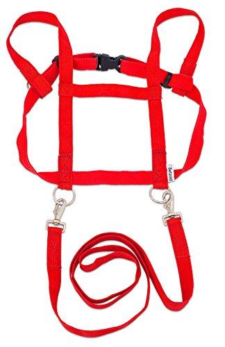 Betzold  36219 - Pferde-Geschirr, für Kinder, mit Sicherheits-Schnell-Verschluss, Zuglänge 85 cm, Brustumfang 110 cm - Kinder Pferdeleine Pferdchen-Spiel Rollenspiel