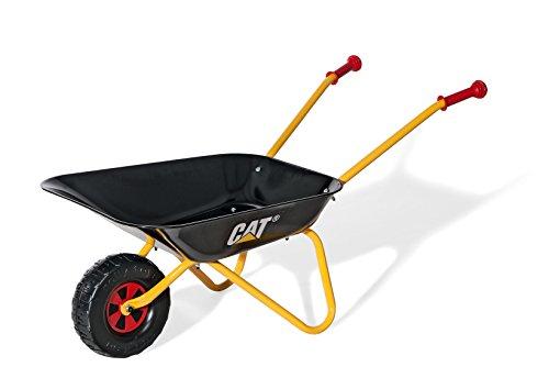 Rolly Toys Schubkarre CAT, TÜV/GS geprüfte Caterpillar Kinderschubkarre mit Metallschüssel und Kunststoffgriffen, für Kinder ab 2.5 Jahren, schwarz/gelb, Art.-Nr. 271818