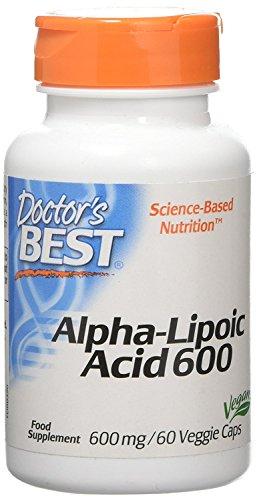 Doctor's Best | Alpha-Lipoic Acid (Alpha-Liponsäure) | 2 Tage Dosis | 600mg Depot Wirkung | 60 vegane Kapseln | glutenfrei | sojafrei