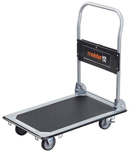 Meister Plattformwagen  Klappbar  Bis 150 kg Tragkraft  Feststellbremse | Transporthilfe mit Lenkrollen | Paketwagen mit Antirutsch-Beschichtung | Klappwagen aus Stahl | 8985530