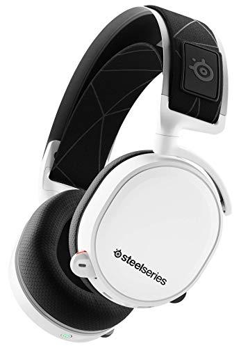 SteelSeries Arctis 7 - Gaming Headset - verlustfreies und drahtloses - DTS Headphone:X v2.0 Surround für PC und PlayStation 4 - Weiß [2019 Edition]