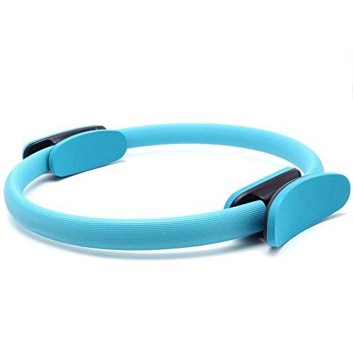 Naisicatar Pilates Ring, Fitness, brennen, Bauch Fett, Ton-& ABS Beine, Oberschenkel- und obliques-Widerstand–Doppel-Griff Griffe–für Geräte mit 14cm mit Ring