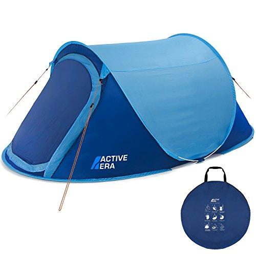 Active Era Zelt, groß, für 2 Personen, Pop-up-Zelt, Wurfzelt, wasserfest, belüftet und haltbar