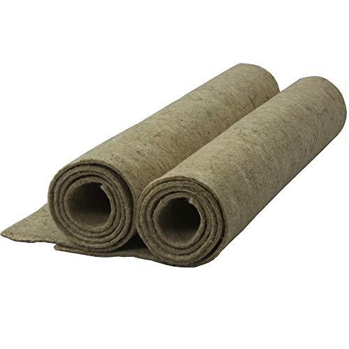 natursache.de | Nagerteppich aus 100% Hanf | Nagermatte als idealer Einstreu-Ersatz für Kaninchen Hamster Meerschweinchen und andere Nager | staubfrei und geruchsbindend 100 x 50 x 0,5 cm