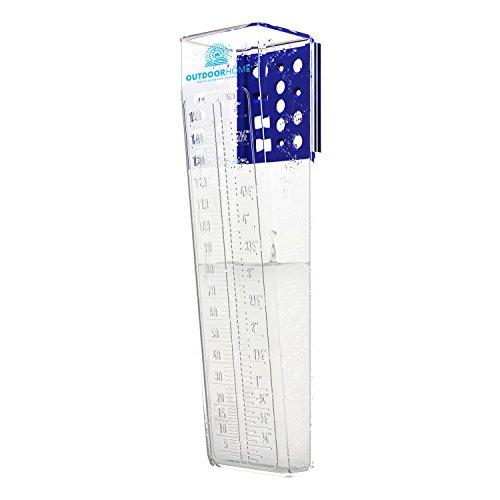 Regenmesser 150mm Deluxe Heavy Duty Professionelle Regenmesser mit leicht ablesbare Skala. Der perfekte Außenbereich Regenmesser für Ihren Garten oder Farm.