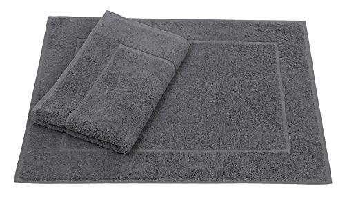 Betz 2er Pack Badvorleger Größe 50x70cm 100% Baumwolle Badematte Badteppich Duschvorlage Premium Qualität 650 g/m²