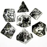 Arkero-G 7er Premium Dice Würfel-Set Nebula: Schwarz - für Rollenspiele, Brettspiele & Sammelkartenspiele