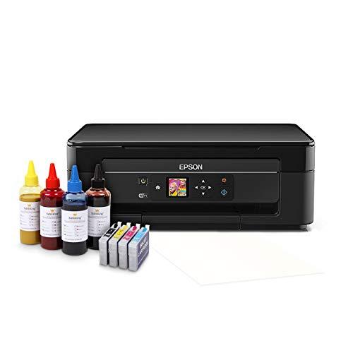 Sublimationsdrucker Starter Paket inkl. 400ml Sublimationstinte & Papier Tassendrucker T-Shirt Textil Drucker