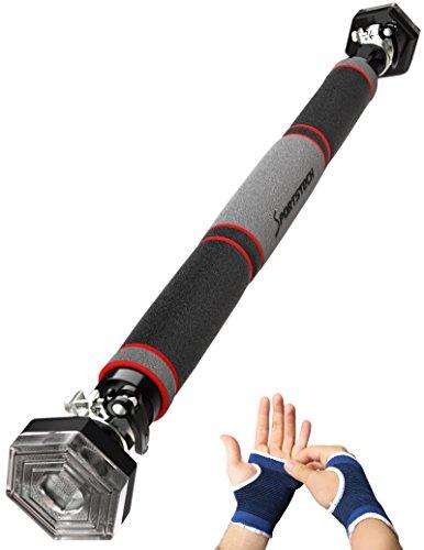 TESTSIEGER Sportstech Klimmzugstange mit einzigartigem hexagonalem System von Sportstech KS200 - mit 3-Schichtpolsterung, Sicherheitsspannhebel, 6 Druckpunkten & außergewöhnlichem Design