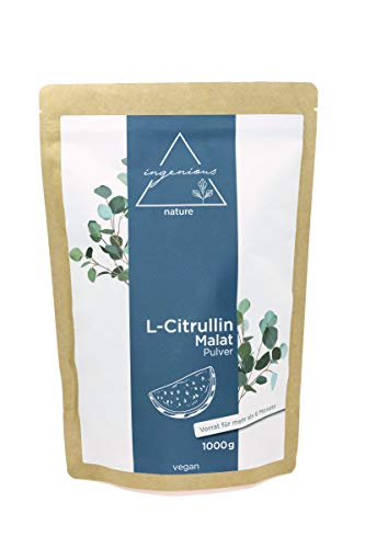 ingenious nature L-Citrullin Malat 2:1 Pulver 1000g Pack - vegan, hohe Reinheit, abgefüllt in Deutschland, Vorrat für bis zu 6 Monate