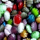 Gemischte Glasperlen, flach, rund, 20 mm, 20 Stück, A4475