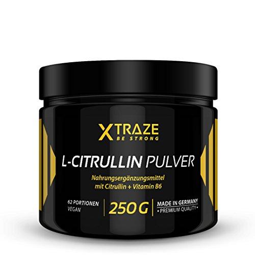 L-Citrullin Malat Pulver 250 g - 100% rein + Vitamin B6 vegan und ohne Zusatzstoffe - Qualität aus Deutschland - Aminosäure Citrulline für Kraftsport | Bodybuilding | Fitness (1 Dose)