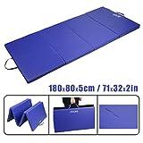 CCLIFE 200x100x5 Blau Weichbodenmatte Turnmatte Klappbar Gymnastikmatte
