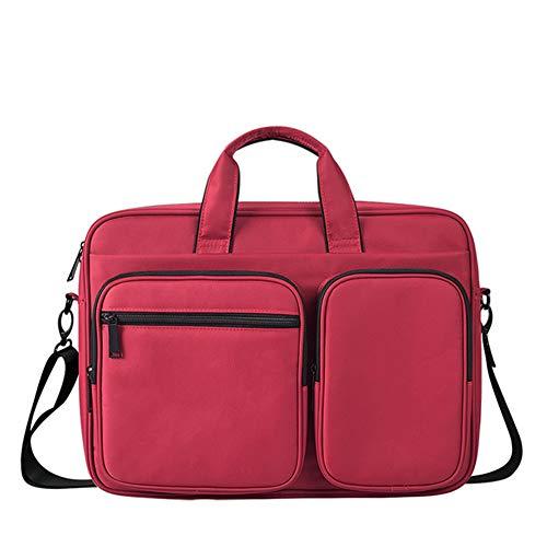 Xfc Laptop-Tasche, Laptop-Schulter-Beutel, Multifunktions Notebook Sleeve, Stoß- Subnotebook Tasche 15,6 Zoll Unisex-Aktenkoffer,Rot