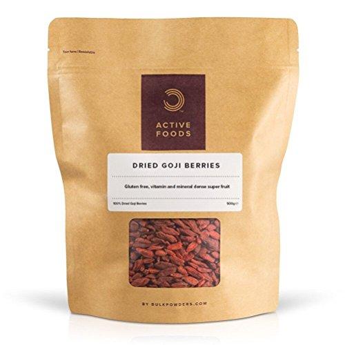 Bulk Powders Goji Beeren getrocknet vollgepackt mit Vitaminen & Mineralien, 500 g