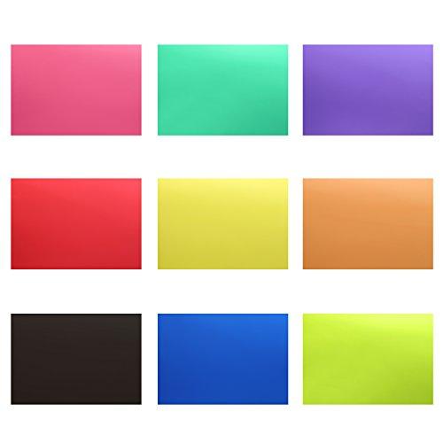 Neewer Korrektur Gel Licht Filter Transparente Farbe 30x20cm 18 Stücke mit 9 Farben: Rot Blau Rosa Cyan Lila Orange Grün Gelb Schwarz für Foto Studio Strobe Blitz LED Licht