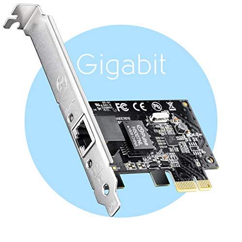 Cudy PE10 Gigabit Netzwerkkarte PCI Express, 10/100/1000 Mbps RJ45 LAN Karte, Treiber frei unter Windows 10/8.1/8