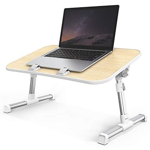iTeknic Laptoptisch höhenverstellbar, tragbar Computertisch, einstellbar und klapperbar Schreibtisch, 52 * 30cm Betttisch, Computertisch verstellbar für Bett, Sofa und Boden.