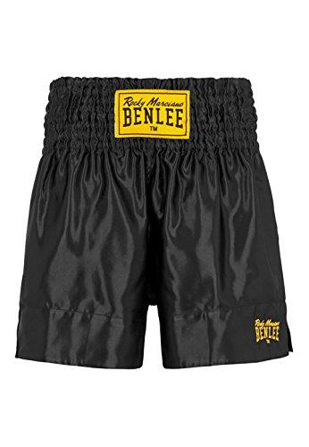 BENLEE Rocky Marciano Herren Thaiboxhose, Schwarz, L