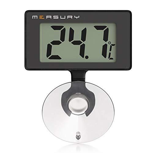 Measury Aquarium Thermometer Wasserdicht, Digitales Aquarien Thermometer für Süßwasser und Meerwasser TM10