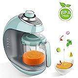 MaxKare Babynahrungszubereiter 5 in 1 Babynahrung Dampfgarer und Mixer mit Dämpfen, Mixen, Auftauen und Heizung Multifunktionen Küchenmaschine,Tritan-Rührbecher, eingebauter Timer, Modeknopf,BPA free