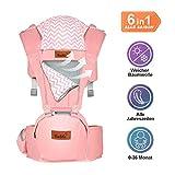 Bable Babytrage/Kindertrage Bauchtrage Ergonomisch für Säuglinge bis 15Kg, Rückentrage für alle Jahreszeiten
