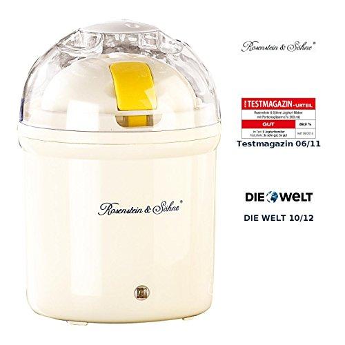 Rosenstein & Söhne Joghurtbereiter: Joghurt-Maker für 1 Liter frischen Joghurt (Jogurt Maschine)