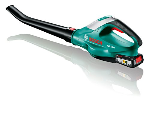 Bosch Akku Laubbläser ALB 18 LI (Akku, Ladegerät, Karton, max. Gebläsegeschwindigkeit 210 km/h, 18 Volt System, 2,5 Ah)