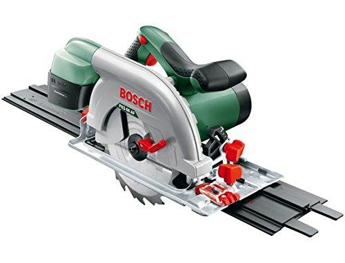 Bosch Kreissäge PKS 66 AF (Kreissägeblatt Holz, Parallelanschlag, Führungsschiene, Karton, 1600 Watt)