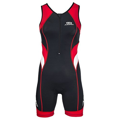Aropec Triathlon Einteiler Lion Damen - Trisuit Women, Größe:L, Farbe:schwarz/rot