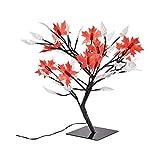 Unbekannt LED-Baum 4 Jahreszeiten 152 Teile, Lichterbaum Dekobaum mit Blüten Blättern Schneeflocken Schmetterlingen & Libellen, Saison-Deko, 14 x 14 x 45 cm