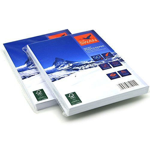100 Blatt Fotopapier 10x15 cm , 180g/qm , highglossy (hoch-glaenzend) - wasserfest-hochweiß-hohe Farbbrillianz, fuer InkJet Drucker (Tintenstrahldrucker)