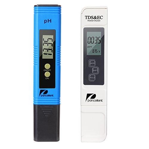 Wasserqualitätstest Messgerät Pancellent TDS PH EC Temperatur 4 in 1 Set (Blau)